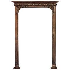Superb Quality French Art Nouveau Walnut Archway
