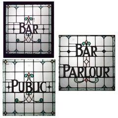 3 English Victorian Pub Window