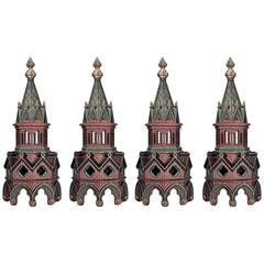 Set of Four 19th Century English Gothic Revival Architectural Steeples