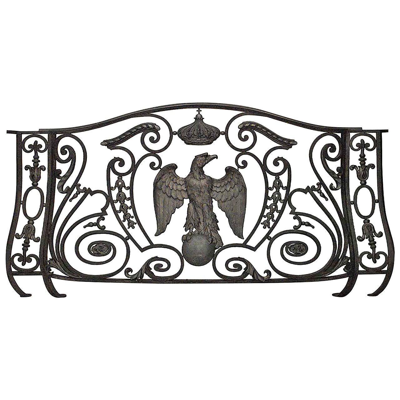 A Sensational Cast Iron Balcony Railing From France C 1875
