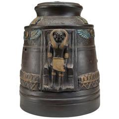 1920s Japanese Egyptian Revival Tobacco Jar