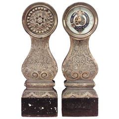 Pair of 19th Century English Royal Yacht Ship Binnacles