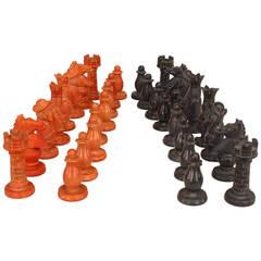 Italian Neoclassical Alabaster Chess Set