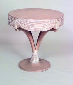 American Art Moderne Bleached Maple End Table