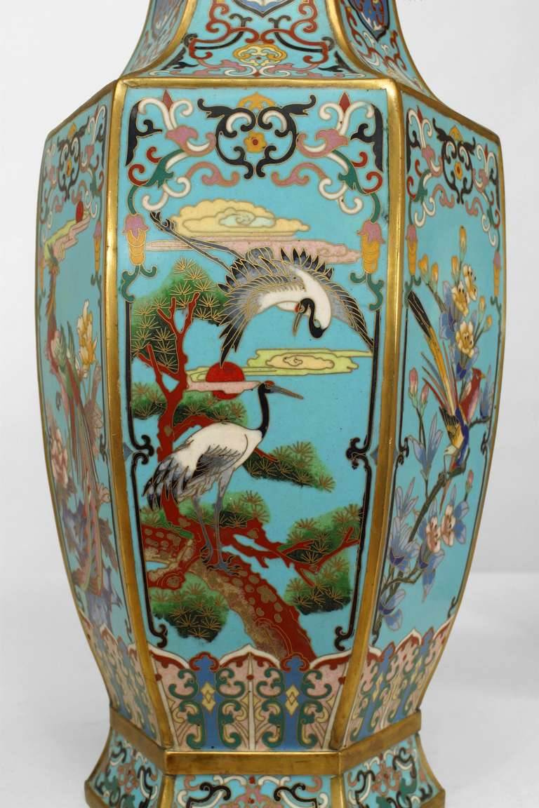 Victorian Pair of 19th Century French Chinoiserie Vases For Sale