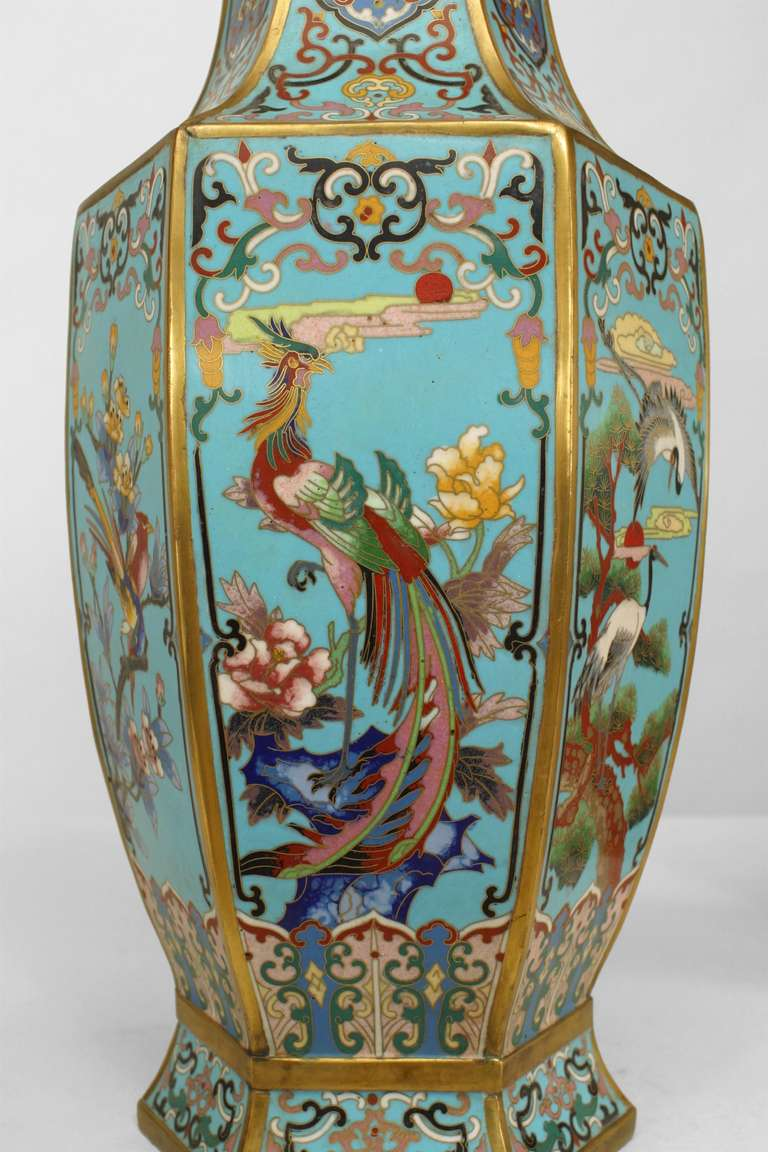 Pair of 19th Century French Chinoiserie Vases In Excellent Condition For Sale In New York, NY
