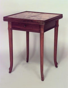 Late 19th Century French Art Nouveau Game Table by Emile Galle