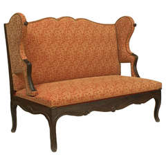 18th Century French Provincial Adjustable Loveseat and Bed