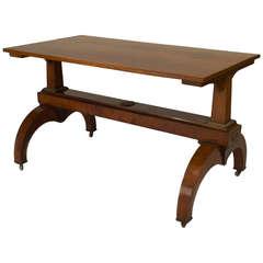19th c. Austrian Biedermeier Bronze-Trimmed Davenport Table