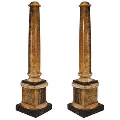Pair of Important Blue John Columns, Circa 1810