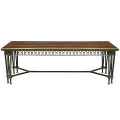1940's French Dining Table Attributed to Poillerat and Quinet