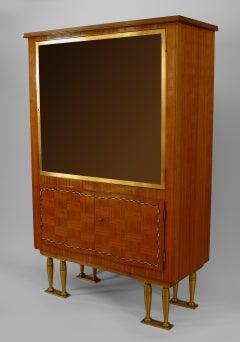 Jules Leleu French Post-War Rosewood Display Cabinet