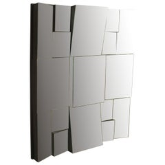 Modernist Cubist Style Mirror by Neal Small
