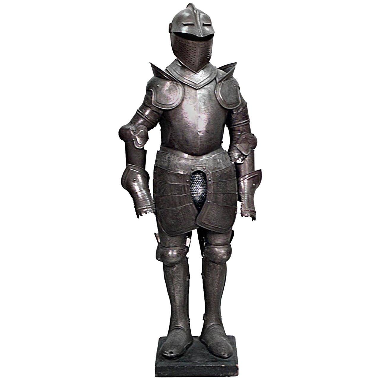 Short Italian Renaissance,Style Etched Metal Suit of Armor