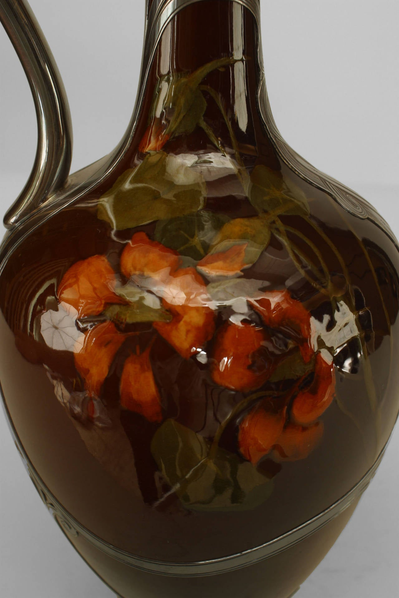 Early 20th Century American Mission Rookwood Pottery Floral Pitcher For Sale At 1stdibs