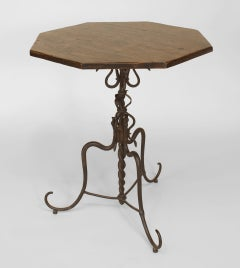 17th Century Spanish Renaissance Octagonal End Table