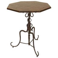 17th Century Spanish Renaissance Octagonal End Table
