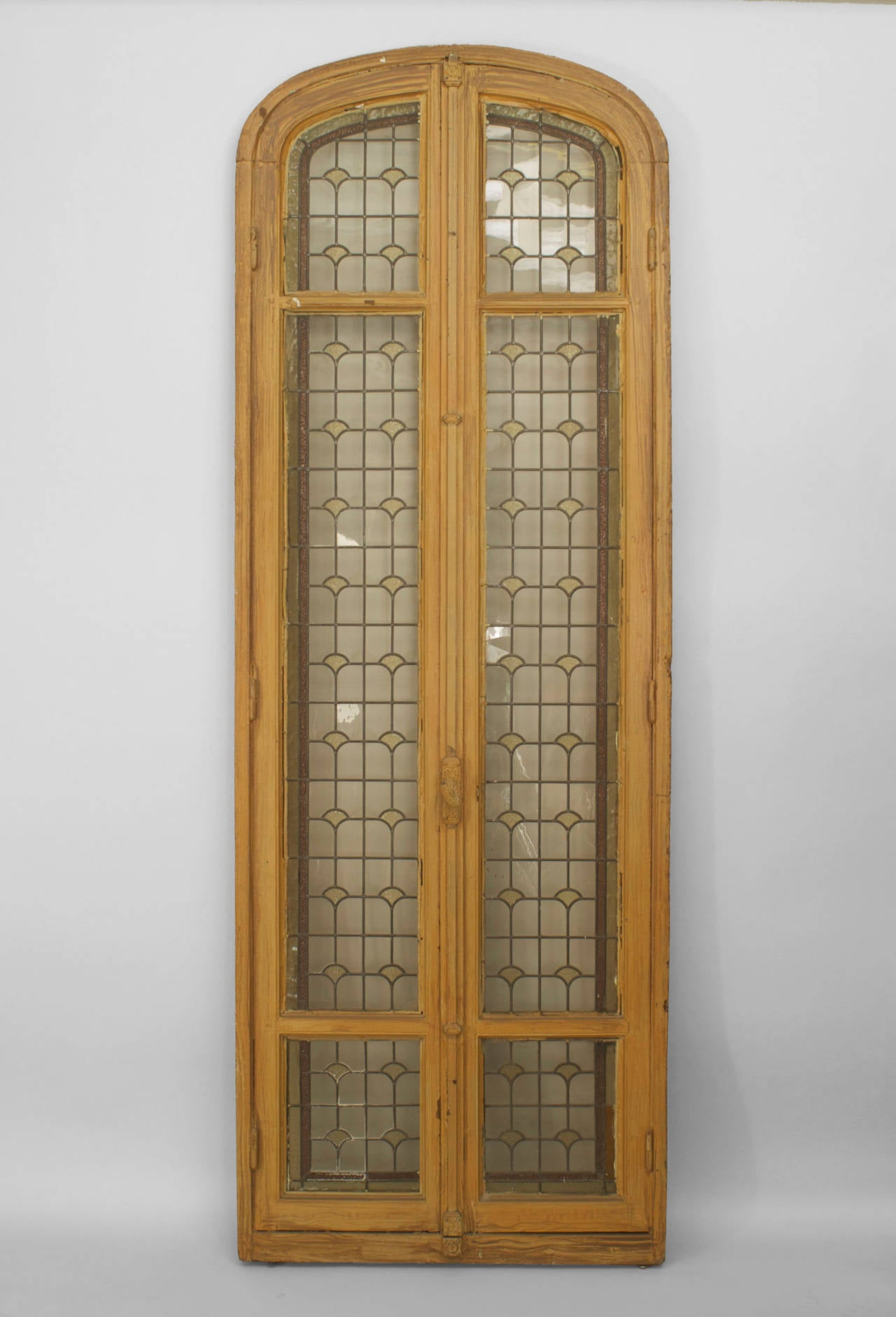 1881 #926C39 Three 19th C. French Stained Glass Doors For Sale At 1stdibs pic Leaded Glass French Doors 35411280