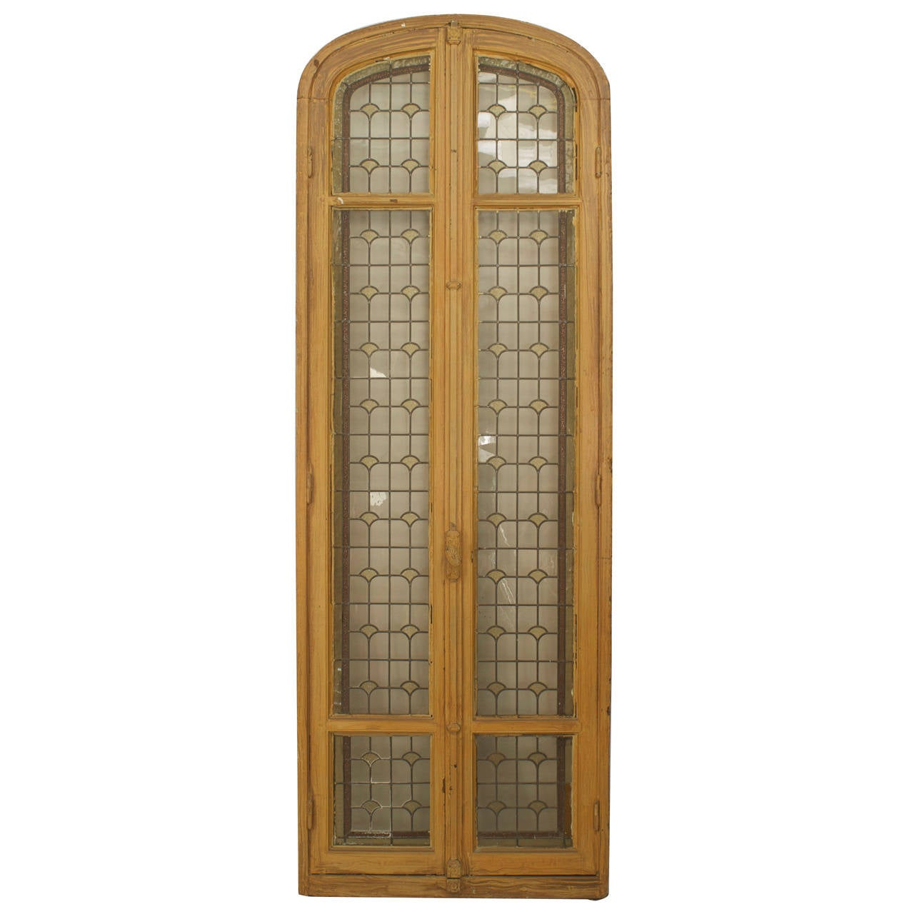 Three 19th C. French Stained Glass Doors