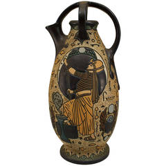Early 20th c. Czechoslovakian Egyptian Revival Amphora