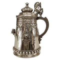 Important Russian Decorated Sterling Silver Tankard