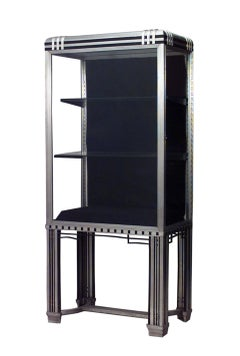 Art Deco Steel and Glass Vitrine by Frye and Bouvy