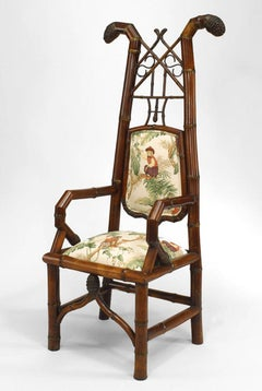 Chinese Export Bamboo Open Arm Chair