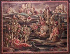 French Art Deco Aubusson Jean Beaumont Tapestry