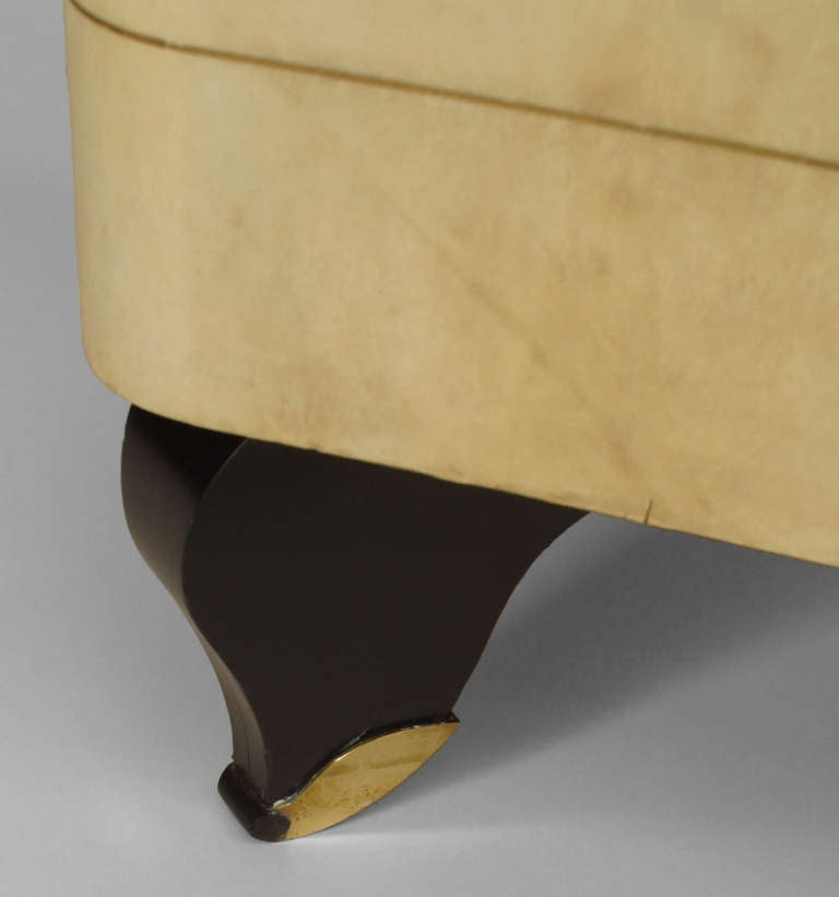 French Art Deco Parchment and Lacquer Sideboard by Adnet 9