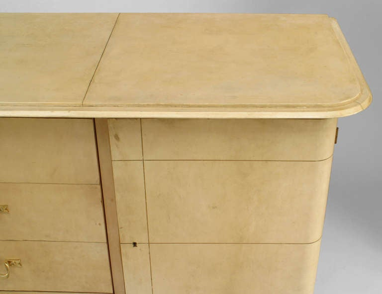 French Art Deco Parchment and Lacquer Sideboard by Adnet 7