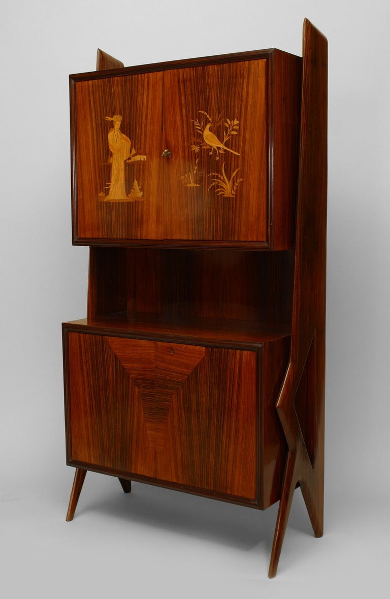 Mid-Century Modern Rosewood Cabinet For Sale