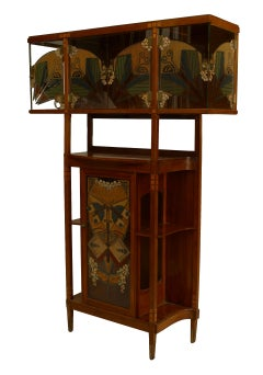 Secessionist Mahogany and Maple Cabinet