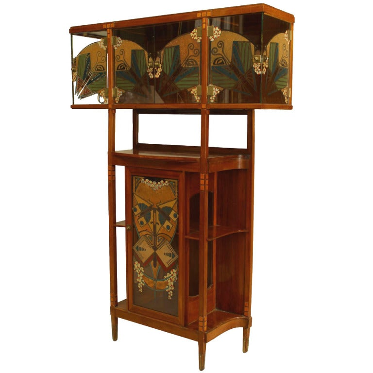 Secessionist mahogany and maple cabinet for sale at 1stdibs for 123 william street 19th floor new york ny 10038