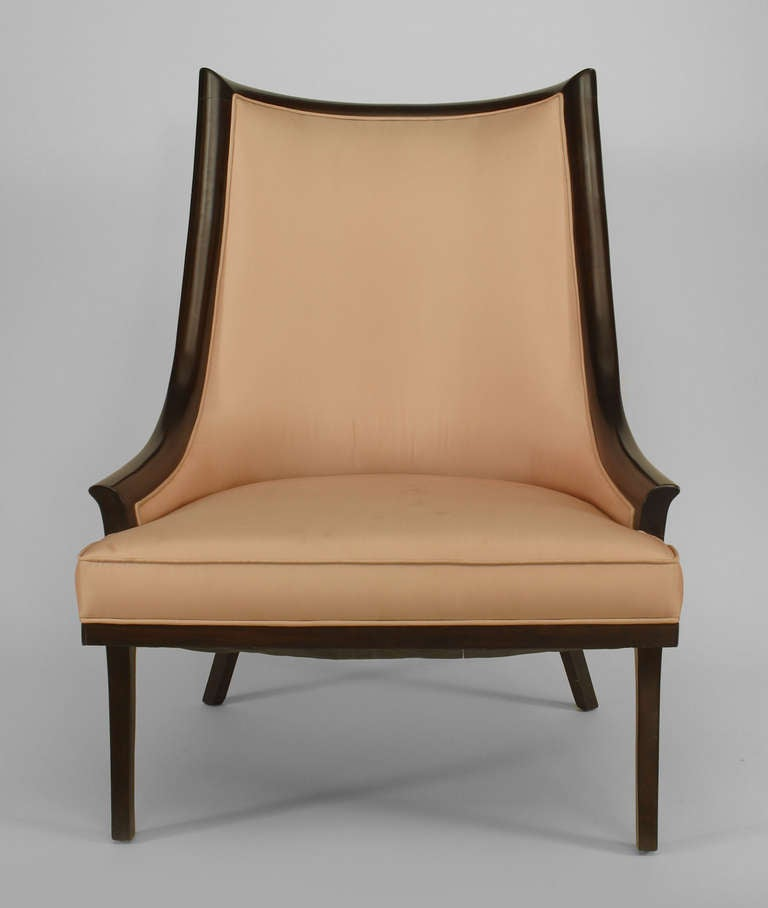 Pair of american mid century ebonized chairs at 1stdibs for Mid century american furniture