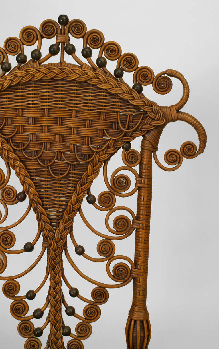 Set of Four 19th Century American Natural Wicker Side Chairs 5