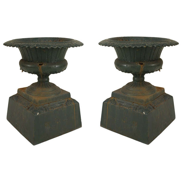 Pair of Late 19th Century American Outdoor Urns by Kramer Bros.