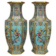 Pair of 19th Century French Chinoiserie Vases