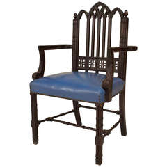 English Chinese Chippendale Style Armchair