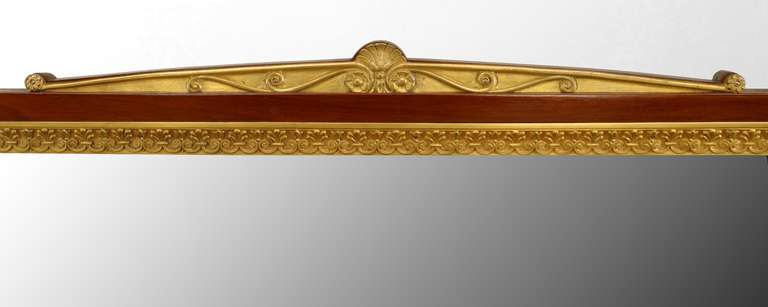 19th c. French Empire Gilt Bronze and Mahogany Dressing Table For Sale 4