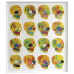 """Contemporary American """"Tie Die"""" Multi-Media Work by Ray Geary"""