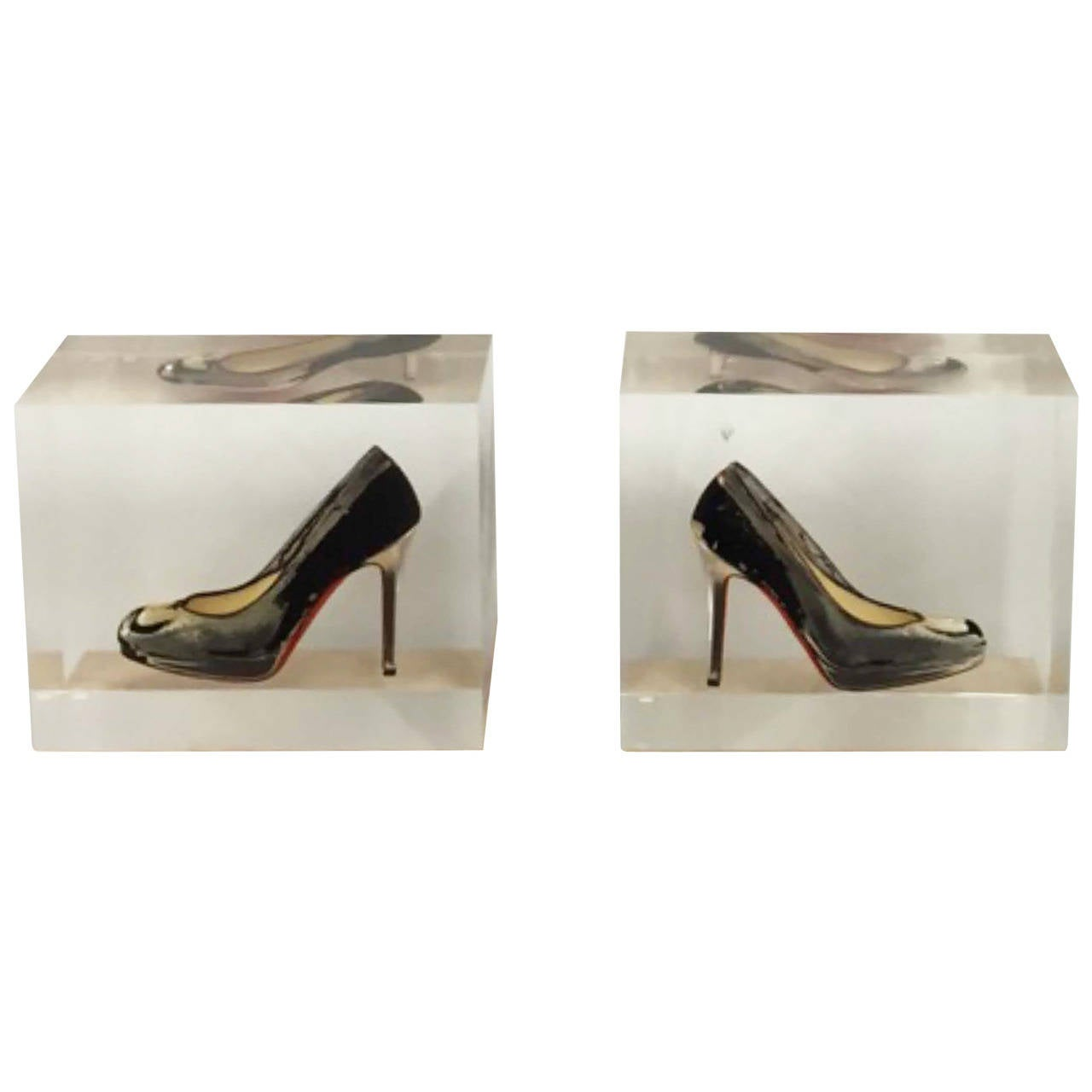 """Contemporary American Sculpture """"Unattainable Louboutin Pair"""" by Ray Geary, 2014"""