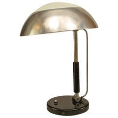 Early 1930s German Bauhaus Inspired Table Lamp Attributed to Karl Trabert