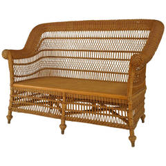 Late 19th c. American Heywood-Wakefield Wicker Armchair