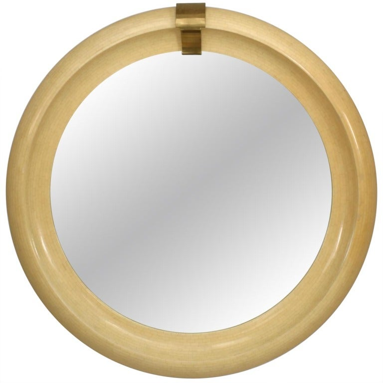 Mid Century Modern Round Wall Mirror At 1stdibs