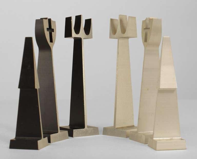 Mid Century Modern Extruded Aluminum Chess Set By Alcoa