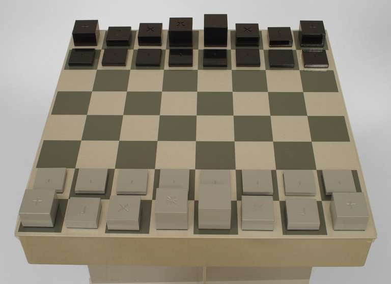 Contemporary Chess Set contemporary aluminum chess setjustin d. philips for sale at
