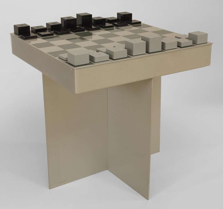 Contemporary Aluminum Chess Set By Justin D Philips At
