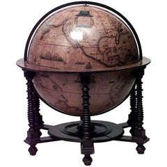Monumental Italian Renaissance Style Mounted Globe