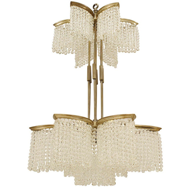 Art Deco chandelier, ca. 1930, offered by Newel