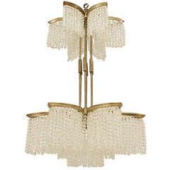 Art Deco Beaded Crystal Chandelier